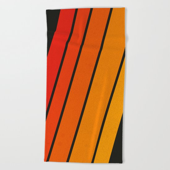 Retro 70s Stripes Beach Towel