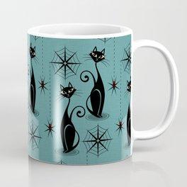 Retro Atomic Spooky Cats Coffee Mug