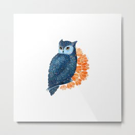Blossoming owl Metal Print