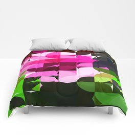 Rosas Moradas 1 Abstract Circles 1 Comforters