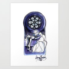 King Lear Illustration Art Art Print