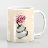 cherry blossom Mugs featuring Cherry Blossom by Freeminds
