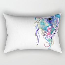 Tuquoise BLue Pink Purple Octopus Rectangular Pillow