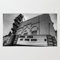 jfk Area & Throw Rugs featuring The Texas Theatre by Mark Alder