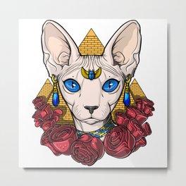 Egyptian Sphynx Cat Pharaoh Metal Print