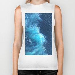 Ocean Blue Waves Biker Tank