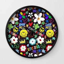PMO colorful collage Wall Clock