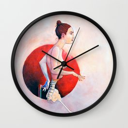 Eves Project, Nude female anatomy, NYC artist Wall Clock