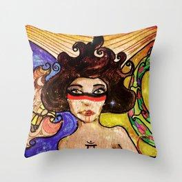 Elemental Goddess Throw Pillow