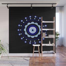 Evil Eye Flower Burst Wall Mural