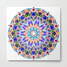 Mandala illustration Metal Print