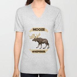 Moose Whisperer Unisex V-Neck