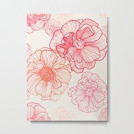 Garden Roses - Nana's Kitchen Vintage Peaches n' Cream Metal Print