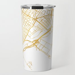 JERSEY CITY NEW JERSEY STREET MAP ART Travel Mug
