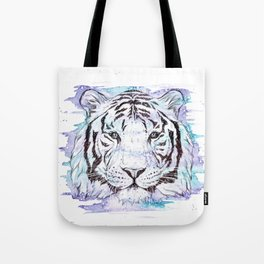 """The Souls Reflection"" Tiger watercolour design Tote Bag"
