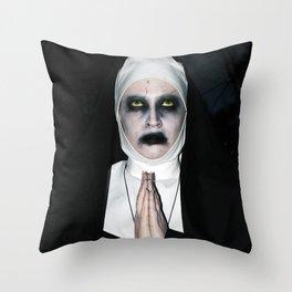 Valak Praying Throw Pillow