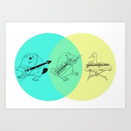 Keytar Platypus Venn Diagram Art Print