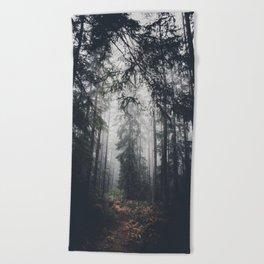 Dark paths Beach Towel