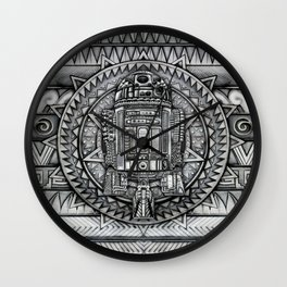 Aztec r2d2 Droid iPhone 4 4s 5 5c 6, pillow case, mugs and tshirt Wall Clock
