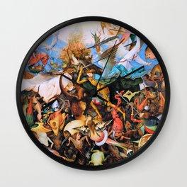 Pieter Bruegel - The Fall Of The Rebel Angels - Digital Remastered Edition Wall Clock