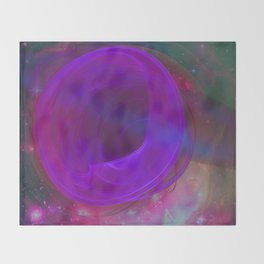 Welcome To The Wormhole Throw Blanket