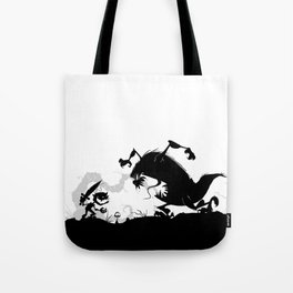 Silhouette of Conflict Tote Bag