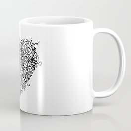 Floral Heart Doodle Illustration Art Coffee Mug