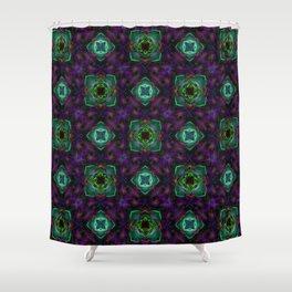 Purple Pattern Fractal Art Shower Curtain