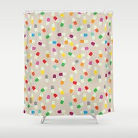 the cure Shower Curtains featuring Pill cure by  R U A L E G R E