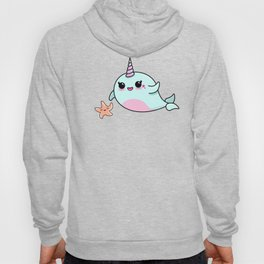 Cute Narwhal and Starfish Hoody