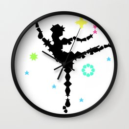 Arabesque Under the Stage Lights Wall Clock