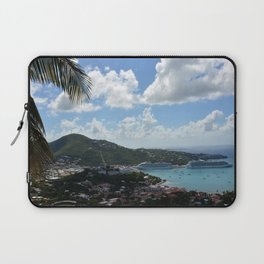 Overlooking the Port at Charlotte Amalie Laptop Sleeve