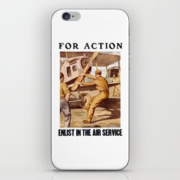 For Action - Enlist In The Air Service iPhone Skin
