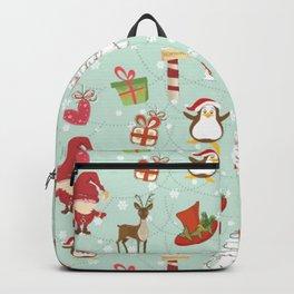 Christmas Elements Reindeer Design Pattern Backpack