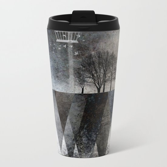 TREES over MAGIC MOUNTAINS I Metal Travel Mug