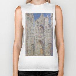 "Claude Monet ""Rouen Cathedral The Portal (Sunlight)"" Biker Tank"
