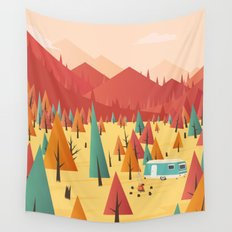 Go out Wall Tapestry