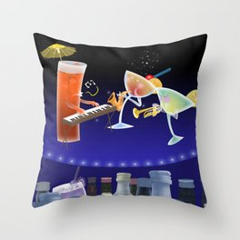 jazz & cheers Throw Pillow