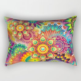 Colorful Abstract Rectangular Pillow