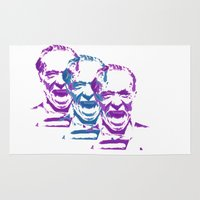 bukowski Area & Throw Rugs featuring Charles Bukowski Stencil Triple  by All Surfaces Design