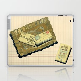 Brass Tray with Vintage Postage Holders in Gouache Laptop & iPad Skin