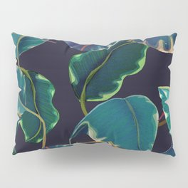 tropical leaves in the nigth Pillow Sham