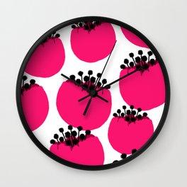 Cotton Tree Flowers 2 Wall Clock