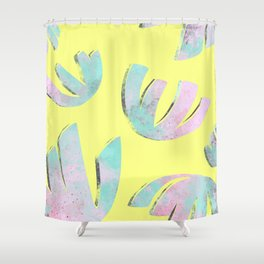 flora pattern no.1 / bright yellow Shower Curtain