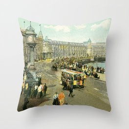 Victorian Douglas Isle of Man Loch Promenade Throw Pillow