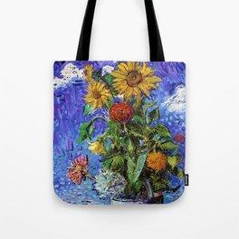 Sunflowers by the Sea by David Davidovich Burliuk Tote Bag