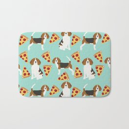 beagle pizza dog lover pet gifts cute beagles pure breeds Bath Mat