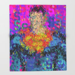 Superhero Type Art Comics SM Throw Blanket