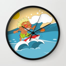 Non Olympic Sports: Surfing Wall Clock