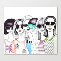 sunglasses Canvas Prints featuring sunglasses by Emily Tumen